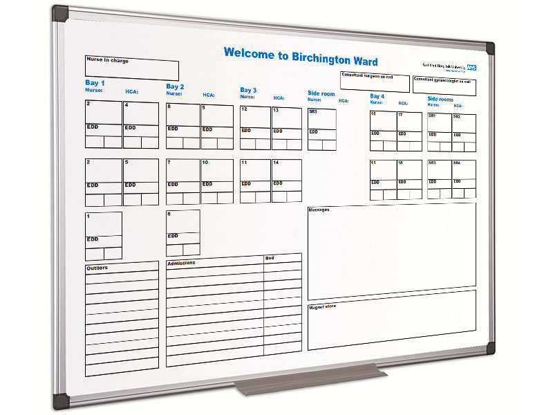 Hospital whiteboards by NHS Magnetics